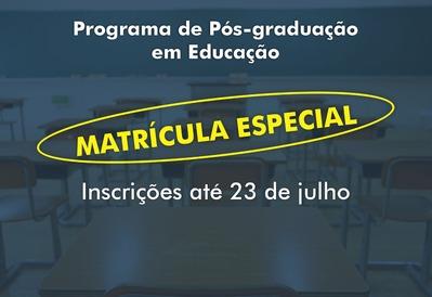 Uefs inscreve para Matrícula Especial no Programa de Pós-Graduação em Educação