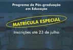 Uefs inscreve para Matrícula Especial no Programa de Pós-Graduaçã...